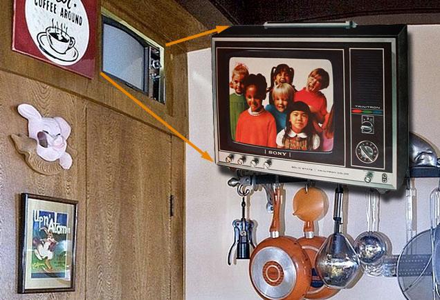 Frank Sinatra's old Sony Trinitron television at Villa Maggio.