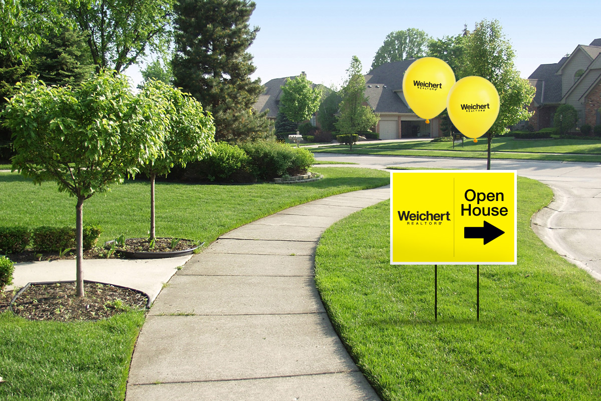 Weichert open house sign